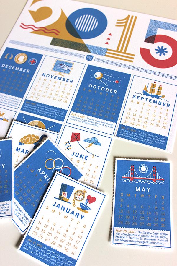Calendar Design On Behance : Brave wall calendar on behance