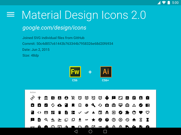 Google Material Design Icons 2 0 (AI, FW PNG) on Behance