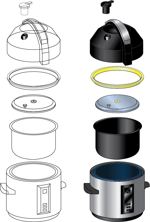 Exploded View Pressure Cooker On Behance