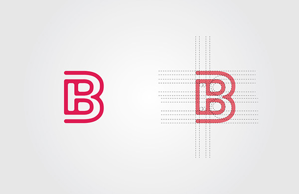 Letter B logo Set