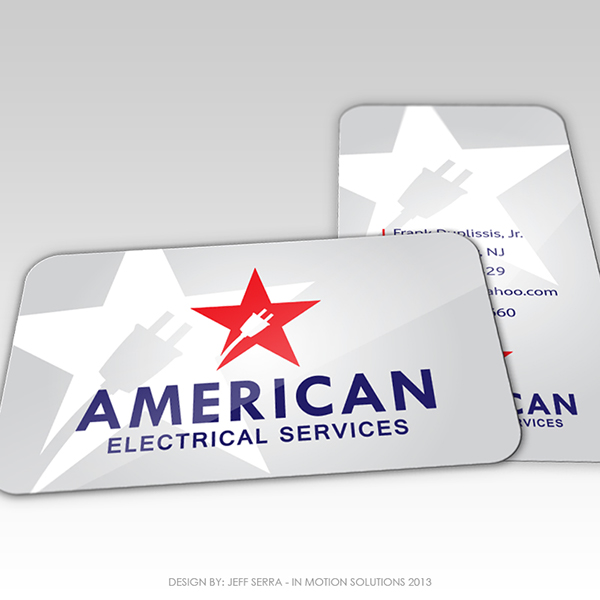 American Electrical Services Business Card Design On Behance