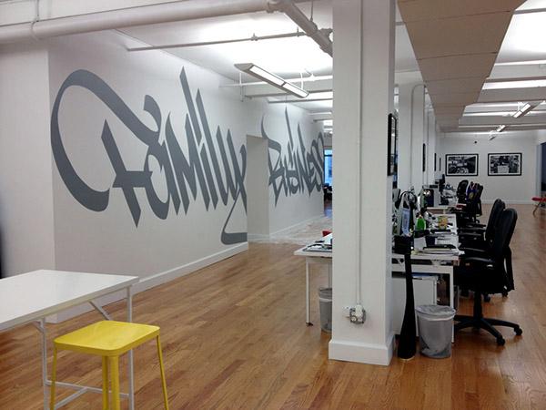 Team epiphany office mural new york 2014 on behance for Thank you mural