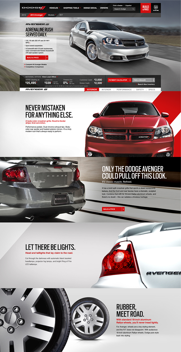 High Impact Userexperience The New Dodge Com On Behance