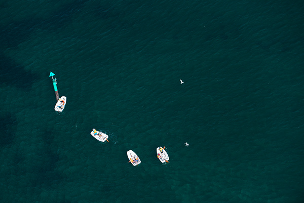 Melbourne Australia Aerial Sandringham beach brighton summer swimming Boats kayak Jetski abstract