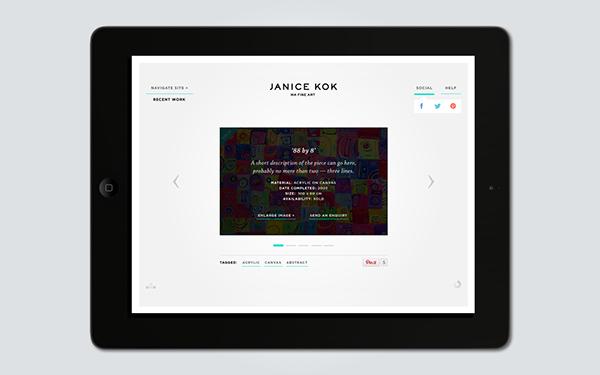janice kok  web design  art  ma  Contemporary Art  abstract