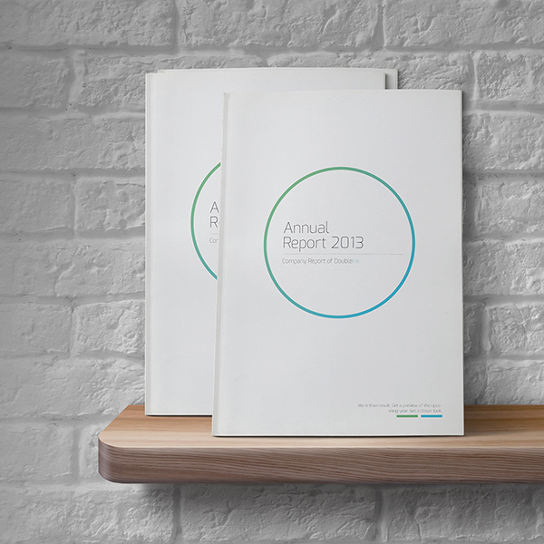 annual report doubleink      a4 and us letter size on behance