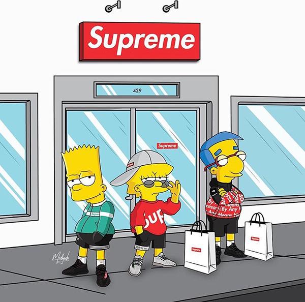 Supreme x Simpson on Behance