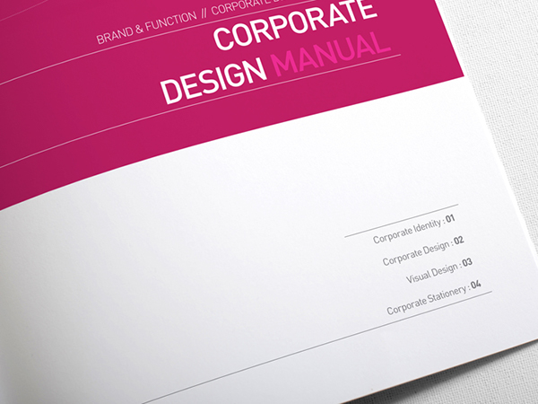 Guide Book Cover Design ~ Corporate design manual guide pages on behance