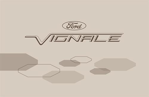 Layout Visitenkarten Ford Vignale Modellreihe On Behance