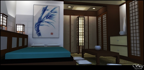 Traditional Japanese Bedroom On Student Show