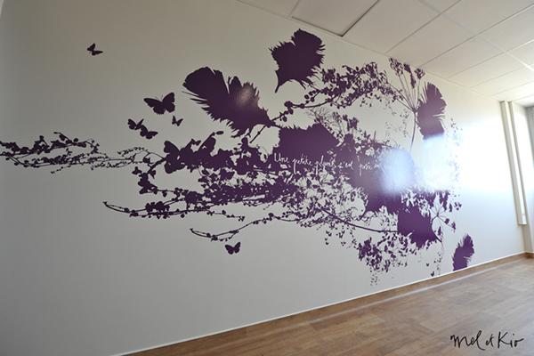 mel et kio wall design design mural