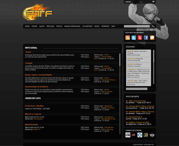 Webdesign  ptfighters