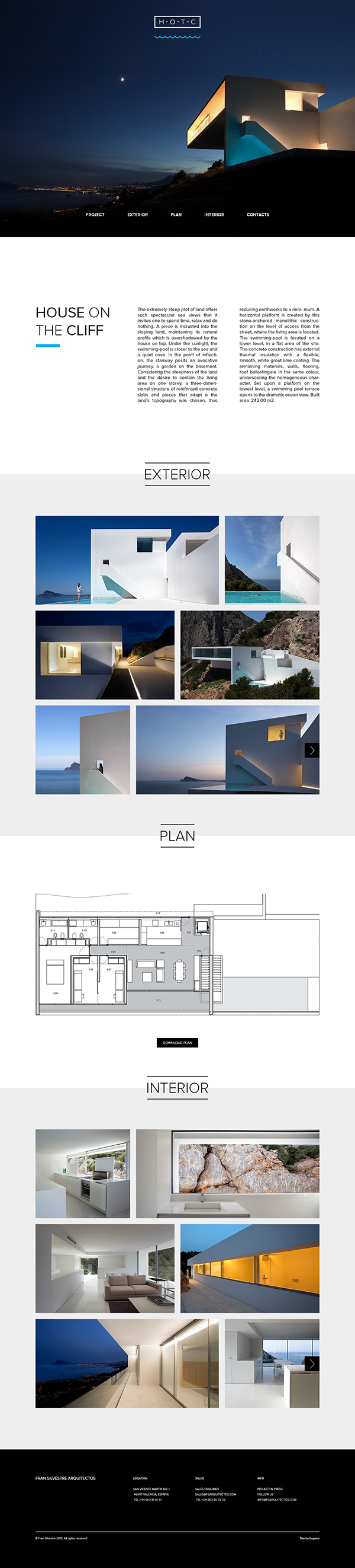 Website Design For Architecture Project On Behance