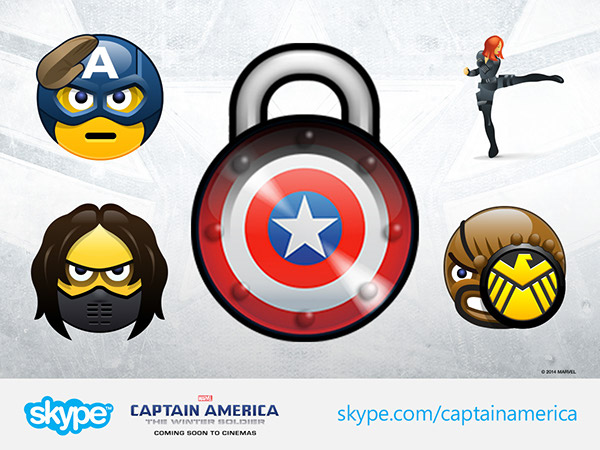 Captain America Skype Emoticons on Behance