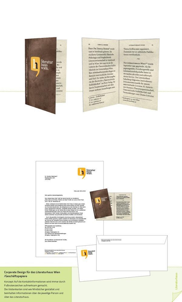 Literaturhaus Wien Cd Print Design On Behance