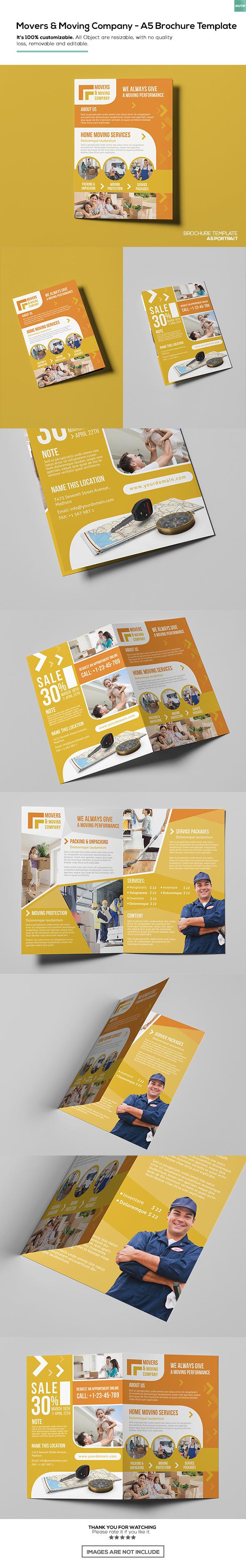 FreeMovers Moving CompanyA Brochure Template On Behance - Moving company flyer template