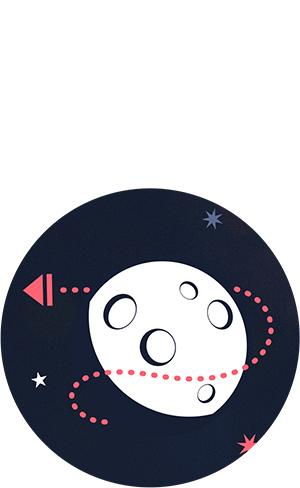 design UI Space  moon