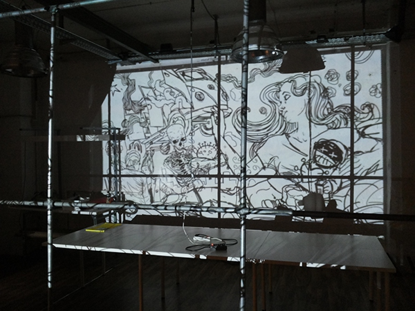 The muse time lapse mural at esdipberlin on sva portfolios for Best projector for mural painting
