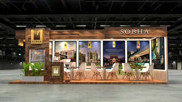 Property Exhibition Booth : Sobha exhibition design for indian property show duabi on student show