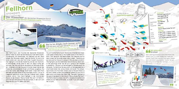 Snowboarding freeski snowparks magazine Catalogue