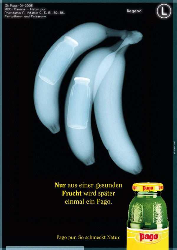 Pago Fruchtsaft Konzept