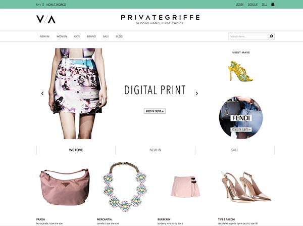 logo design Private griffe e-commerce