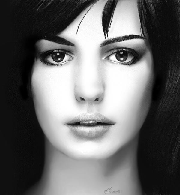 Anne Hathaway Drawing: Anne Hathaway On Behance