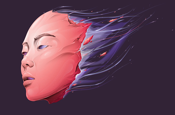 Arcanic Mask - Step by step - Illustrator CC by Paul DOUARD