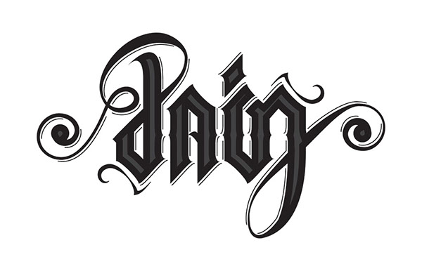 Pain Love Ambigram On Behance