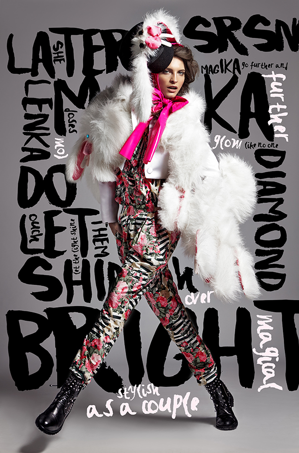 lenka srsnova fashion editorial on typography served