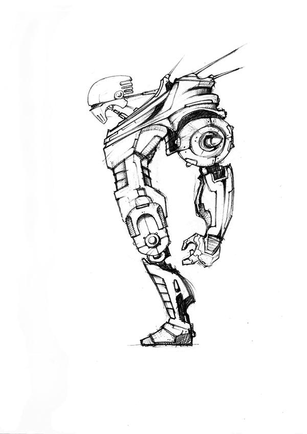 Alien Robot Drawings Mbc2 Aliens Robots on