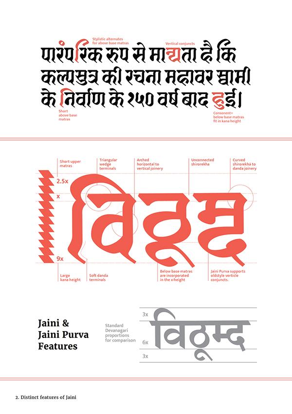 Jaini (Devanagari font) based on 1503 AD manuscript  on
