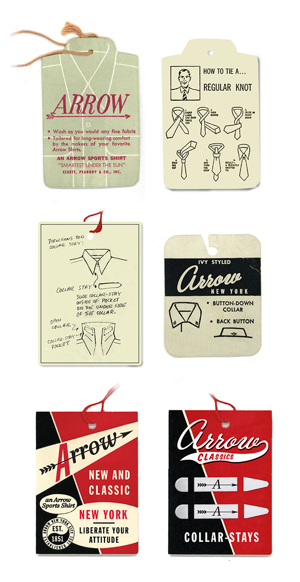 Arrow and Cluett Labels and Packaging