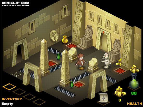 Dare to venture into Pharaohs Tomb and steal his treasure! #AdventureGames #PlatformingGames #FlashGames