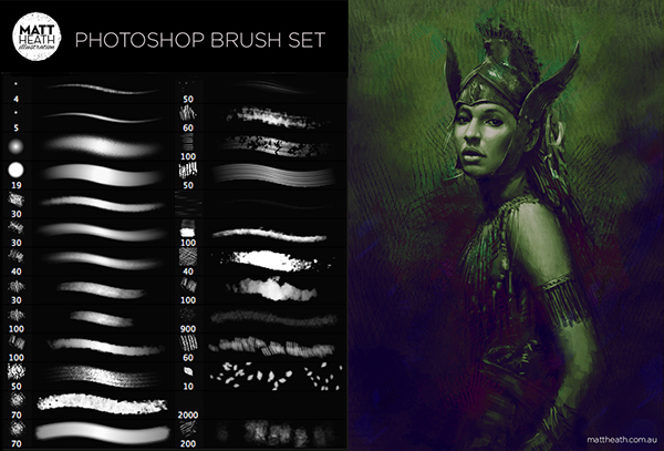 Free Photoshop brushes on Wacom Gallery