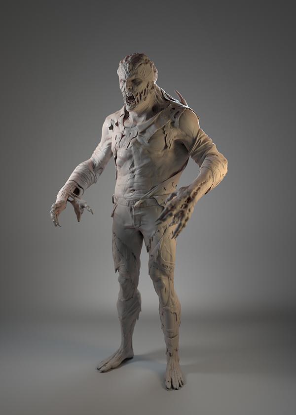 3d Character Design Behance : D character zombie hunter on behance