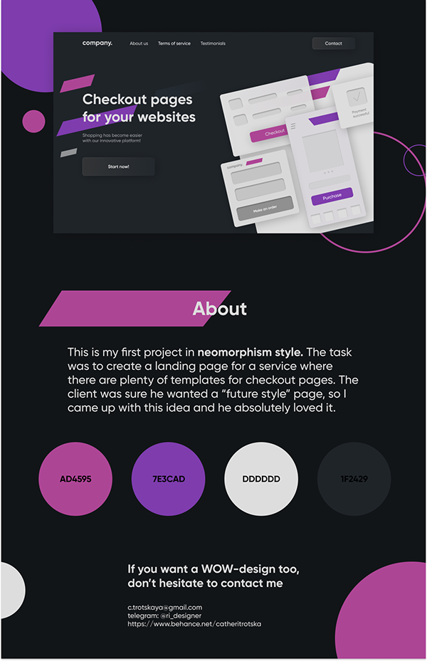 Landing page for saas