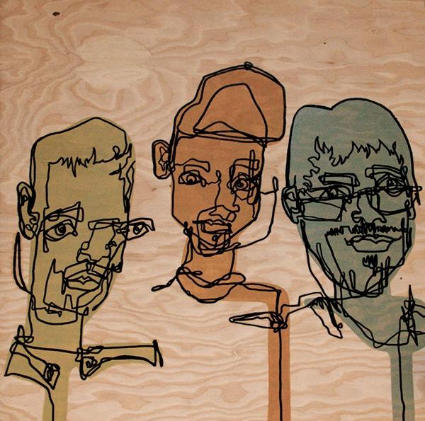 Blind Contour Line Drawing Self Portrait : Blind contour paint on behance