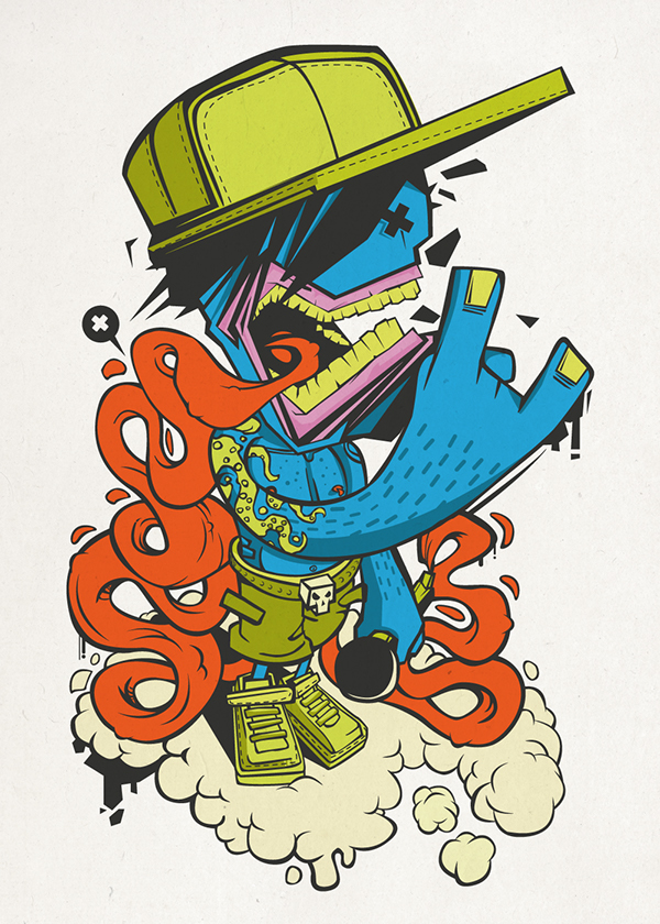 Street Art Character Design : Vector art on behance