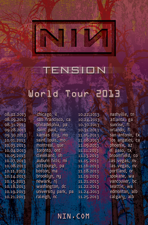 Nine Inch Nails Tour Promo Package on Behance
