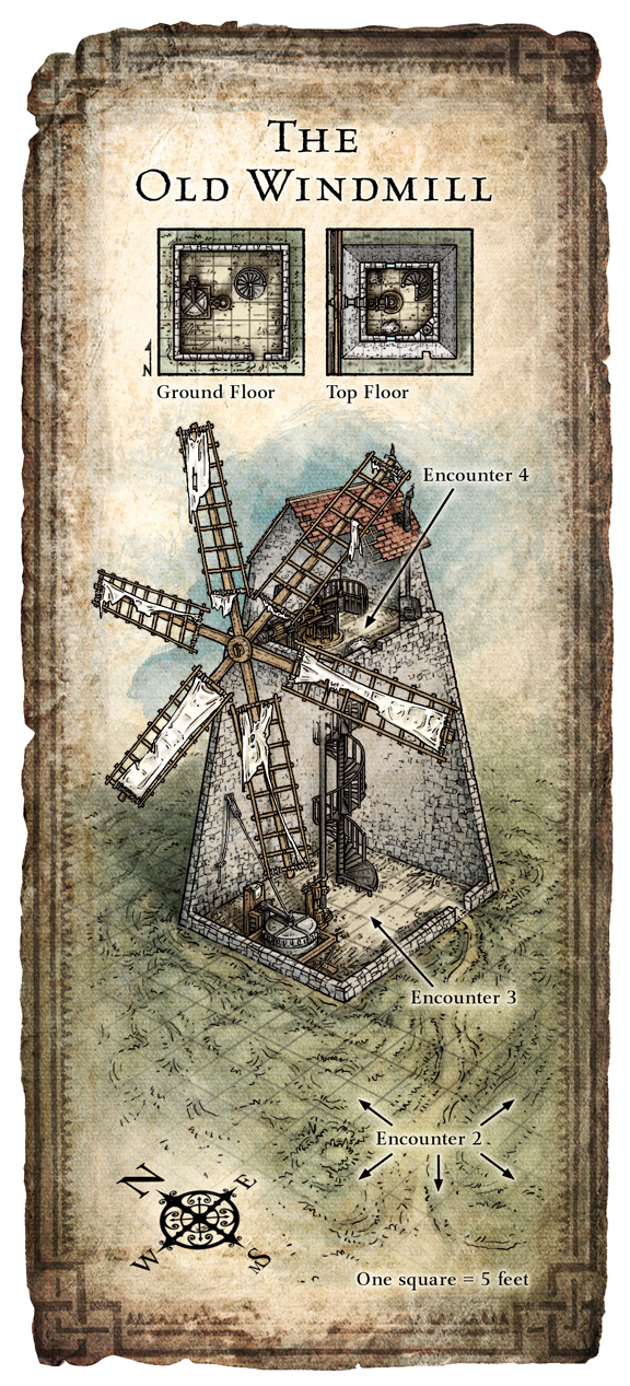 Windmill Cutaway Illustration