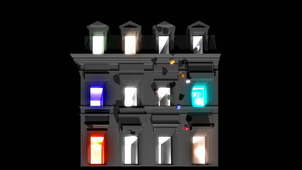 Nespresso video mapping projection