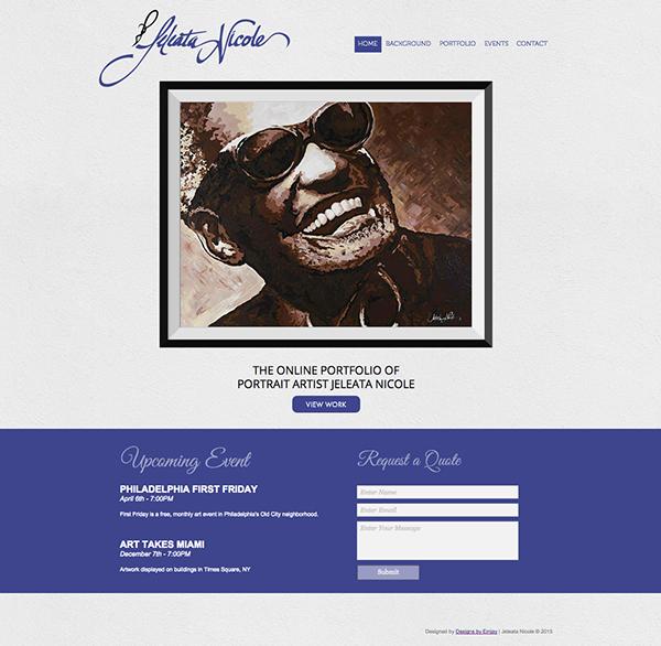 Jeleata Nicole Portrait Artist Portfolio Website On Behance
