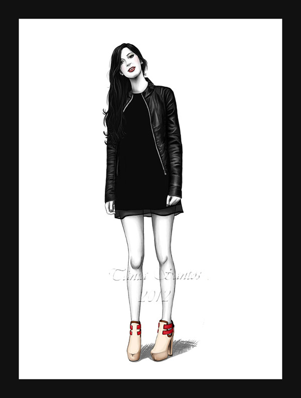 Digital Fashion Illustration On Wacom Gallery