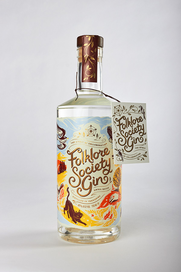 Ilustrace na láhvi od alkoholu.