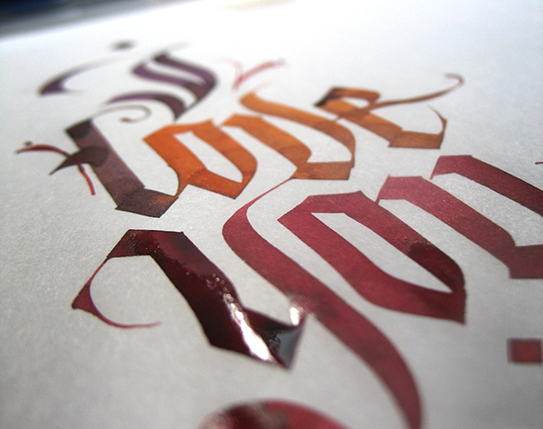 Calligraphy valentine s cards on behance