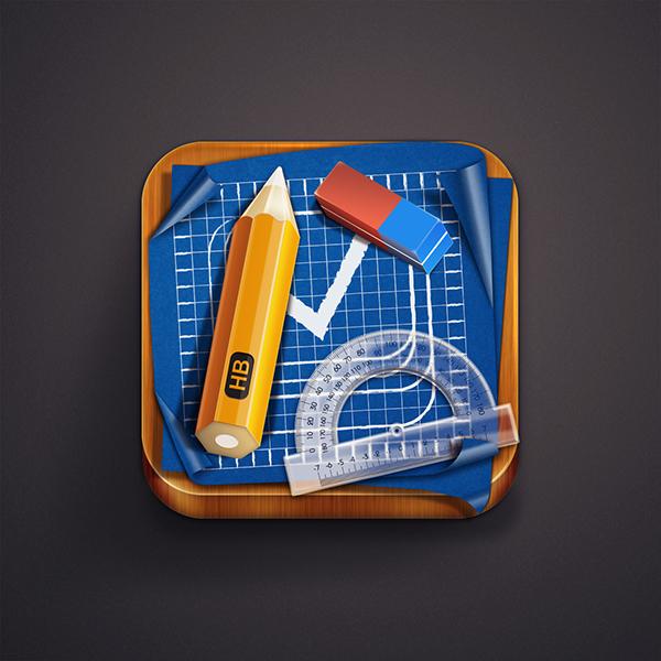 iOS icon  iOS iphone  ipad Icon  blueprint app icon design  App design