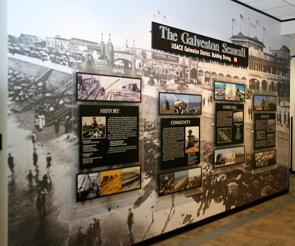 Usace galveston district mural display on behance for Cd mural wall display