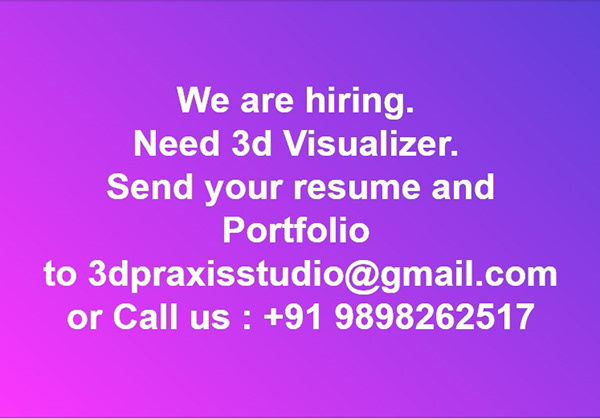 Need 3d Visualizer Send Your Resume On Student Show