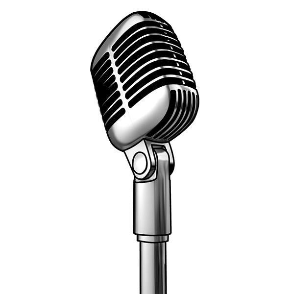 Line Art Microphone : Line art of a classic microphone on behance